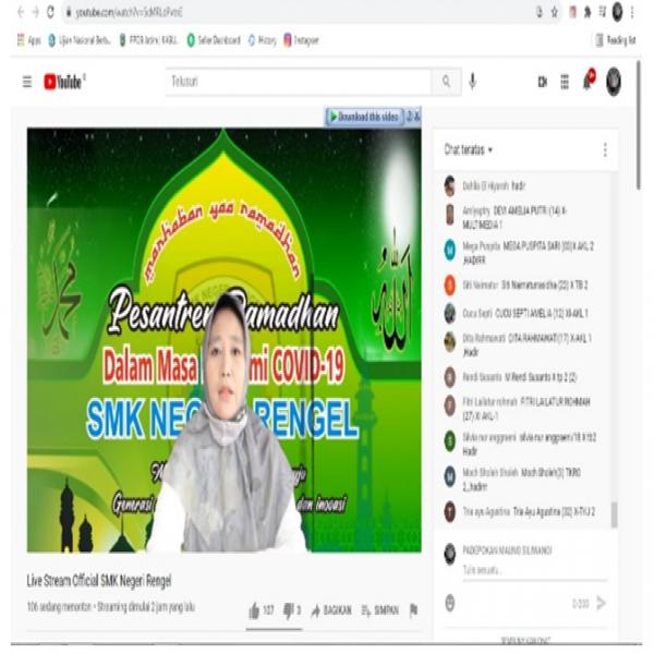 PESANTREN RAMADHAN SMK NEGERI RENGEL TAHUN 2021